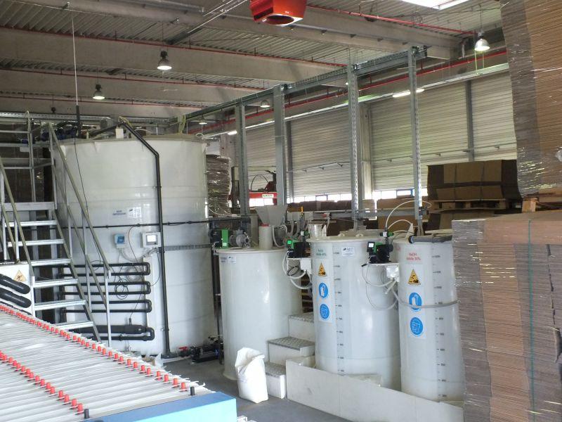 Statie preepurare fabrica carton ondulat 20 m3/zi