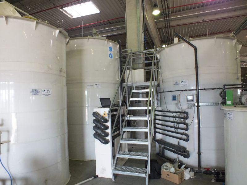 Bazine de omogenizare, stocare namol, reactor