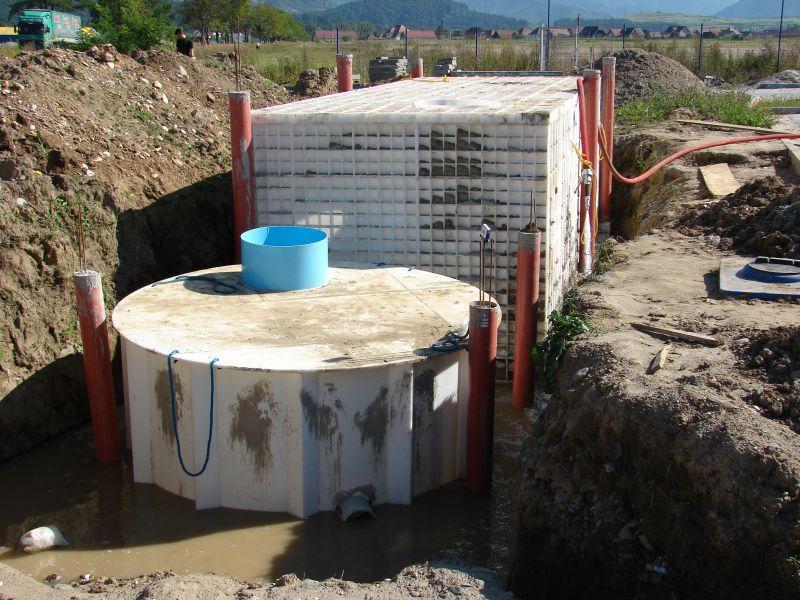 Bazine stocare apa, montaj ingropat, cu portanta proprie