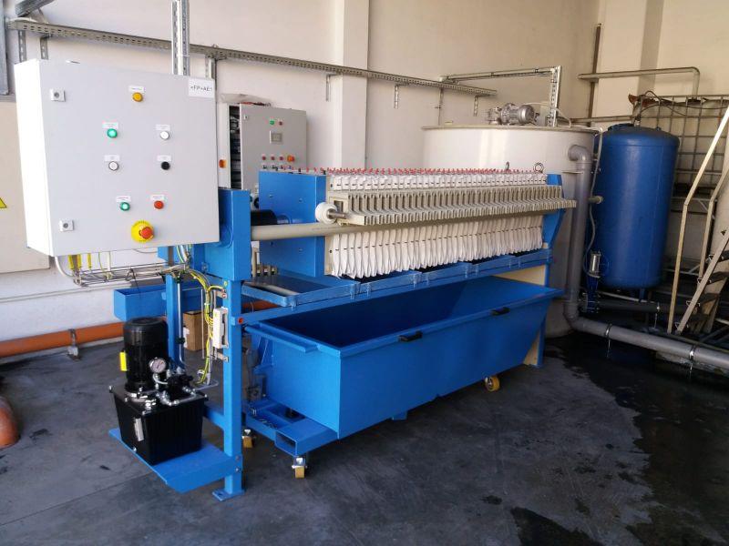 Instalatie deshidratare namol cu filtru presa K470/40