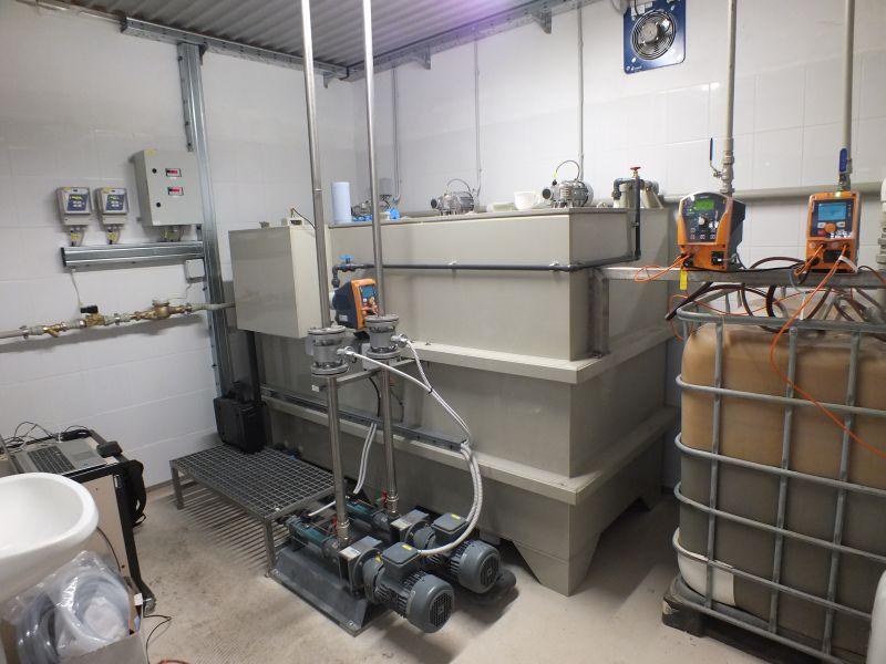 Instalatie preparare floculant din emulsie