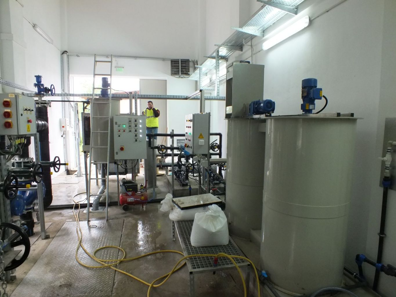 Instalatie deshidratare namol